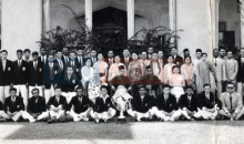 Footballers from Perak who captured the 1957 Malaya Cup with the Sultan of Perak Nov 19 1957